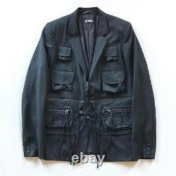 Raf Simons SS2003 Consumed Rare Bondage Cargo Vest Blazer Jacket