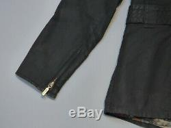 Rare Barbour & Paul Smith Women Waxed Jacket Size 12 Black Limited Edition US 8