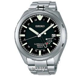 SEIKO PROSPEX SBDB015 LAND MASTER Spring Drive Titanium Alpinist Watch Men's