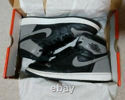 SZ 9 Nike Air Jordan 1 High OG Shadow 555088-013 XI IV Bred Toe Chicago Mocha