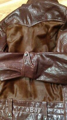 Schott Perfecto P-242 Hair on Calf Cowhide Leather MADE IN USA GRIZZLY Med NWT