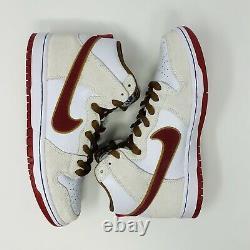 Size 9 Nike SB Dunk High Pro Sail Crimson Phillies Blunt CV9499-100