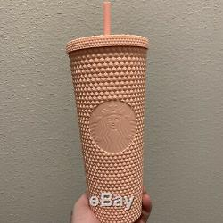Starbucks Spring 2020 Limited Edition Matte Pink Studded Cold Cup Tumbler