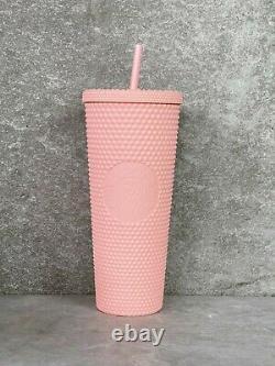 Starbucks Spring 2020 Matte Pink Studded Tumbler 24 oz Limited Edition