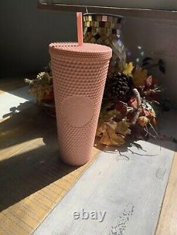 Starbucks Spring 2020 Matte Pink Studded Tumbler 24 oz limited edition NEW cup