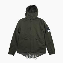 Stone Island Water Repellent Wool Ghost Piece Hooded Jacket Coat L BNWT Green