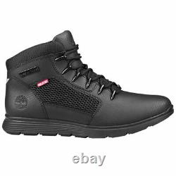 TIMBERLAND Men's Killington Hiker Leather Boots Shoes Casual ALL BLACK