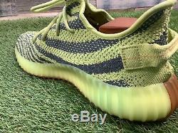 UK9.5 Adidas YEEZY Boost 350 V2 Semi Frozen Yellow Trainers Boxed US10 EU44