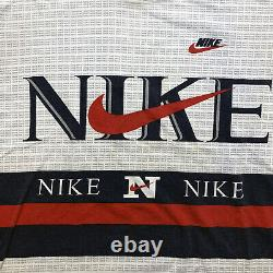 VERY RARE Vintage 90's NIKE Double Sided All Over T-Shirt XL VTG Air Swoosh USA