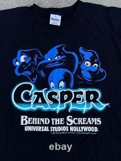 VTG 1995 Casper Movie Universal Studios Hollywood Behind The Scream shirt XL NOS