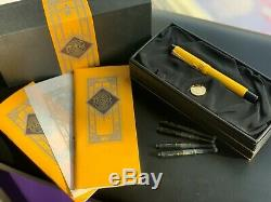 Very Rare Parker Duofold Mandarin Yellow Limited Edition Fountain Pen FULL SET