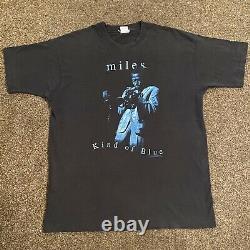 Vintage 1994 Miles Davis Kind Of Blue T-Shirt Sz XL 90s Rare Original Blues Jazz