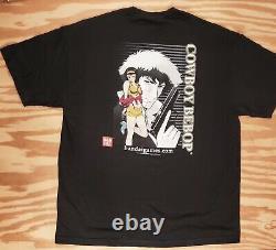 Vintage Cowboy Bebop T-Shirt XL Faye Valentine Spike Spiegel Akira Genie Rap Tee
