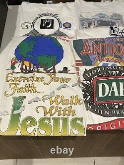 Vintage T Shirt Bundle Lot 10 Shirts Wholesale Reseller Bundle 80s / 90s Size L