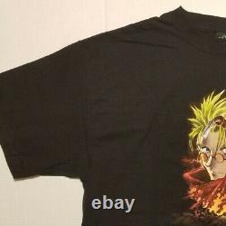 Vintage Trigun Anime T Shirt Mens Black XL Sunrise ODM Vash Graphic Cartoon Rare