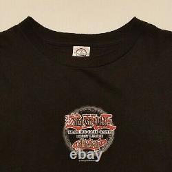 Vintage Yu Gi Oh Mens Anime Shirt Black Hobby League Champ TCGSz XL Rare 1996