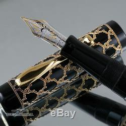 Visconti Alhambra 18k Gold Overlay Limited Edition 88 Fountain Pen