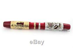 Visconti Jung Alchemy HRH Limited Edition White/Yellow Gold Fountain Pen