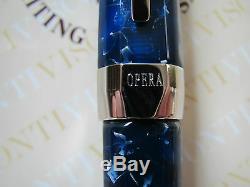 Visconti Limited Edition Opera Deep Ocean Blue fountain pen Fine 23ct Pd nib MIB