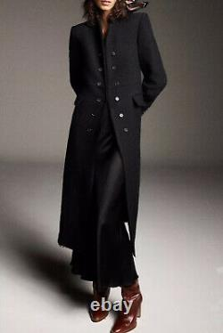 Zara Limited Edition Black Wool Blend Long High Neck Coat Size XL Bnwt Bloggers